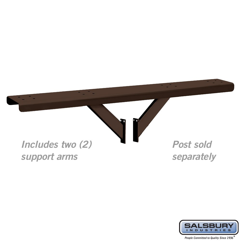 Salsbury Industries 4384D-BRZ Spreader 4 Wide with 2 Supporting Arms for Designer Roadside Mailbox, Bronze