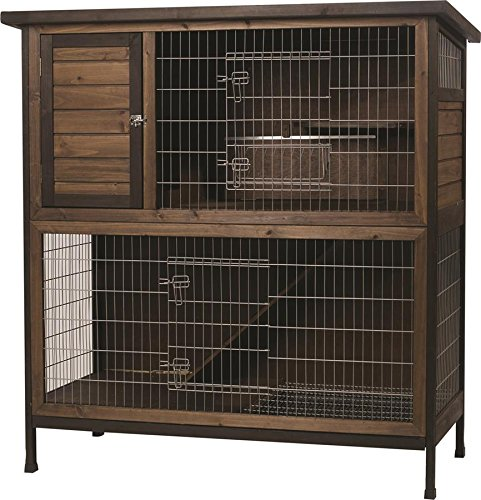 - Kaytee Rabbit Hutch, 2-Story, 48-Inch Wide