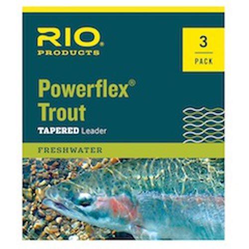 Rio Powerflex Trout Leaders, 6 Pk, 7.5ft 5X
