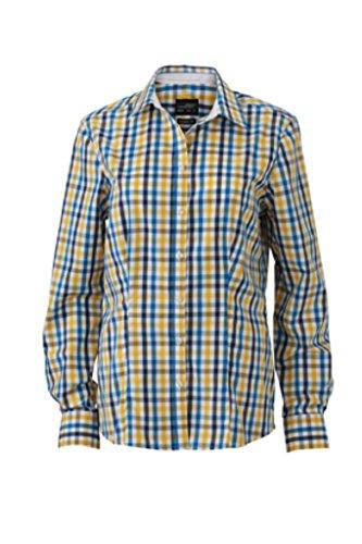 A white Con Inserti Nicholson Quadri blue E Polsini Unita James amp; Sul Fashion yellow Camicia Tinta Donna Colletto White wUxSX8q0