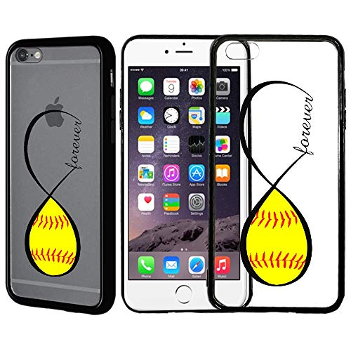 - [Inkmodo] Clear TPU Case for iPhone 6 Plus/iPhone 6S Plus - Softball Forever Printed Unique Design Pattern Cover