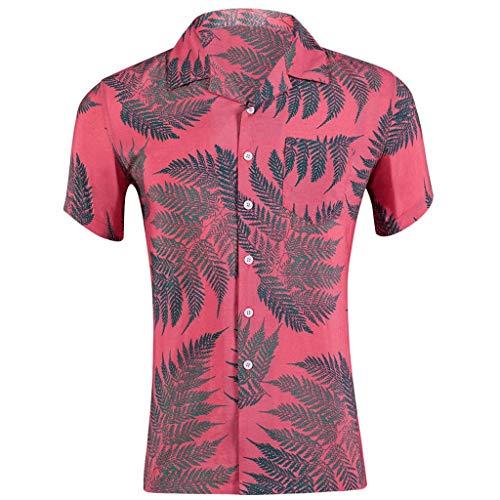 Kekebest 2019 Summer Newest Arrival for Men,Blouse T-Shirts Vest Men Slim Loose Hawaii Short Sleeve Printed Pocket Turn-Down Collars Popover Boulder Creek Essentials Sexy High Indigo Crew (Indigo Jackets Moon)