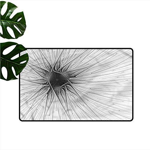 (HOMEDD Crystal Velvet Doormat,Spires Monochrome Composition,with No-Slip Backing,31