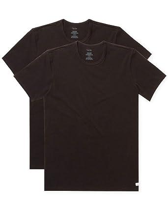 b3b68dfff Calvin Klein Men s Undershirts Cotton Stretch 2 Pack Crew Neck Tshirts