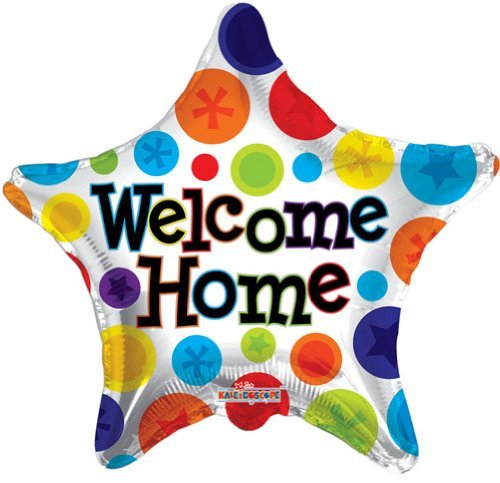 "Single Source Party Supplies - 18"" Welcome Home Star Mylar Foil Balloon"