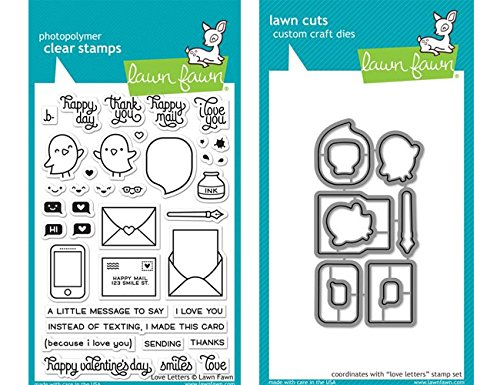 Lawn Fawn Clear Stamp & Die Set - Love letters LF1292 & ()
