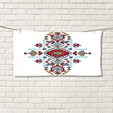smallbeefly Geometric Sports Towel Mexican and African Ethnic Tribal Ornamental Folkloric Unique Vintage Pattern Absorbent Towel Multicolor Size: W 12'' x L 35.10''