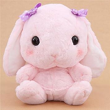 Kawaii Mochila grande de peluche conejo rosa Poteusa Loppy de Japón
