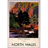 Photographic Print of The Pass of Aberglaslyn, Gwynedd, North Wales, LMS poster, 1945 by Media Storehouse