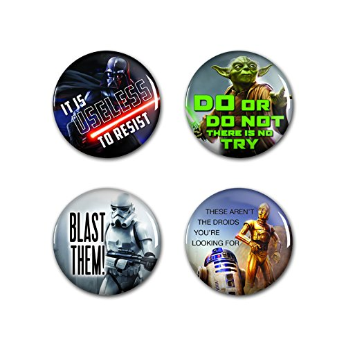 Star Wars Metal Button Badge Pin Set 4 Pack by Wincraft 790750
