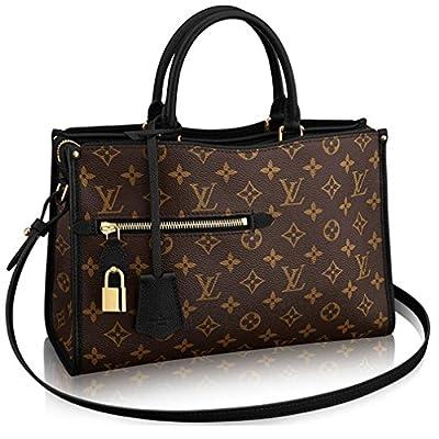 Louis Vuitton Monogram Canvas Popincourt MM Tote Handbag Noir Article: M43435 Made in France