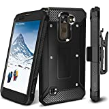 LG Stylo 2 / LG Stylo 2 Plus/LG Stylo 2 V Case, Evocel [Explorer Series] Premium Full Body Case with Rugged Belt Clip Holster for LG G Stylo 2 / LG Stylo 2 V/LG G Stylo 2 Plus, Black