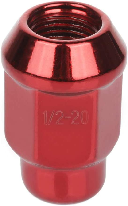 Aintier 23pcs Red Wheel Lug Nuts Fit for Jeep Cherokee//CJ5//Comanche//Grand Cherokee 1966-2013 1//2-20 Thread Size Closed end