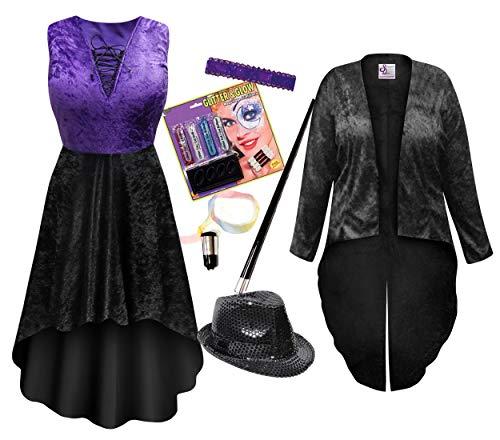 Saloon Dancer Plus Size Supersize Halloween Costume Dress & Jacket Deluxe Kit 3x