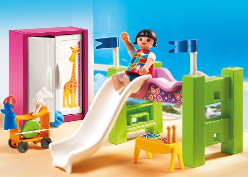 Playmobil 5579 kinderzimmer mit hochbett rutsche bettmix for Hochbett auf englisch