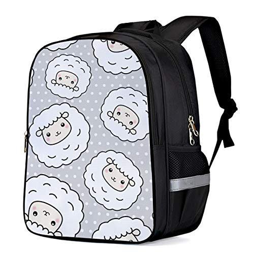 Kids School Backpacks Cartoon Chubby Lamb Lovely And Cure Elementary School Bags Lightweight Durable Water-Resistant Student Bookbags - Small
