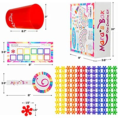 Mara's Box Different Rainbow Counting Bears with Matching Sorting Cups, 146pc Set + Toy Storage + Activity Cards, Montessori and STEM Learning Game, Quality Educational Resources and Learning Toys: Toys & Games