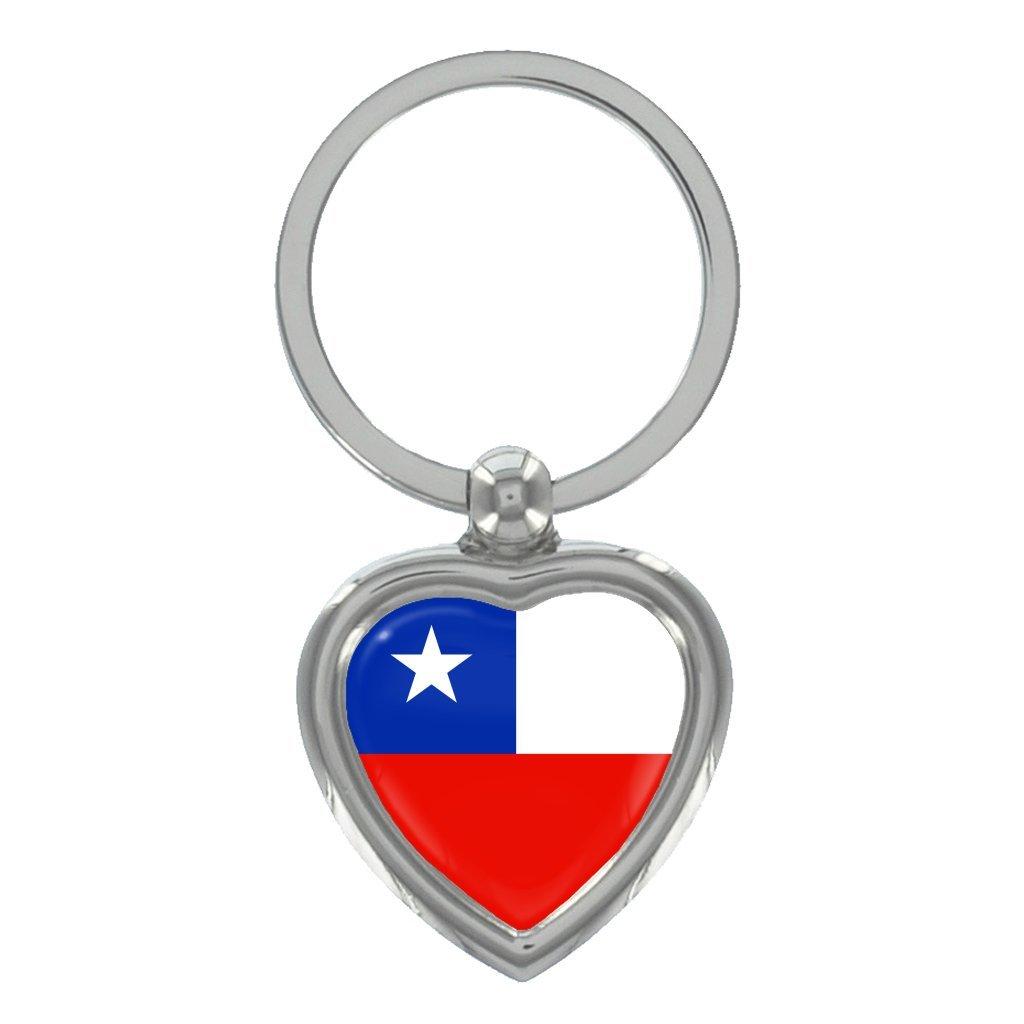 Amazon.com: Bandera de Chile Metal Forma De Corazón Llavero ...