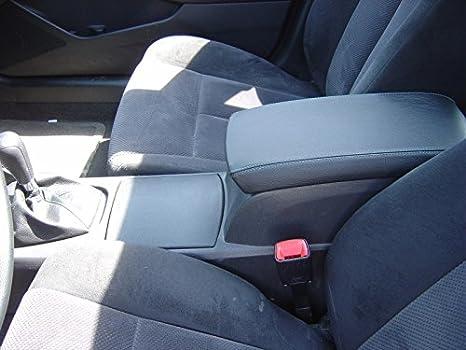 Black Leather-Black Thread RedlineGoods armrest Cover Compatible with Nissan Altima 2007-12