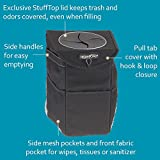 High-Road-StashAway-Car-Trash-Can-with-Lid-and-Storage-Pockets