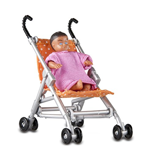 Lundby Smaland Dollhouse Stroller and Baby