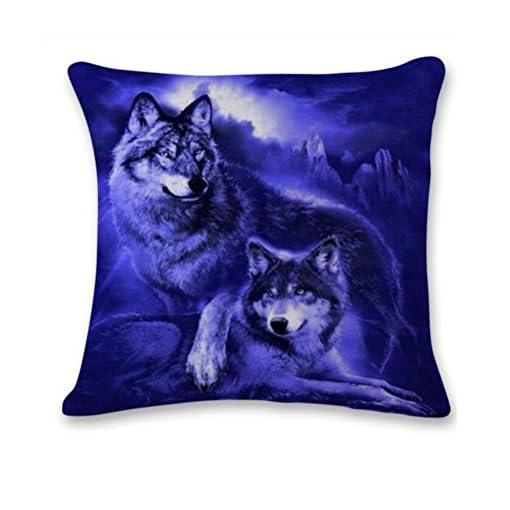 Igemy 3D cute Wolf divano letto Home decorazione festival federa cuscino B