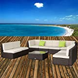 U-MAX 7 Piece 7-12 Pieces Patio PE Rattan Wicker Sofa Sectional (Small Image)