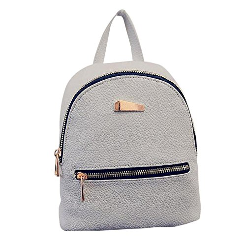 Backpack Bag Rucksack Girls Mini Grey Faux DAEDALUS Fashion Leather School Handbag Travel zyFIcvq
