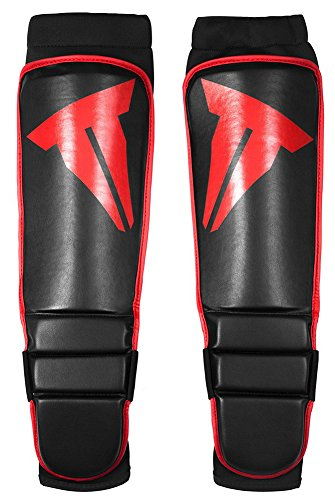 THROWDOWN Grappling Instep Shin Guard, Black, - Shin Leather Instep Pro Guards