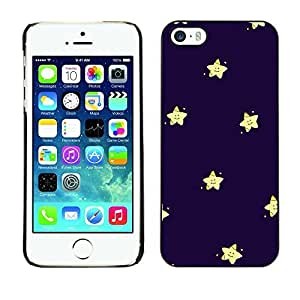 LASTONE PHONE CASE / Slim Protector Hard Shell Cover Case for Apple Iphone 5 / 5S / Kids Purple Blue Night