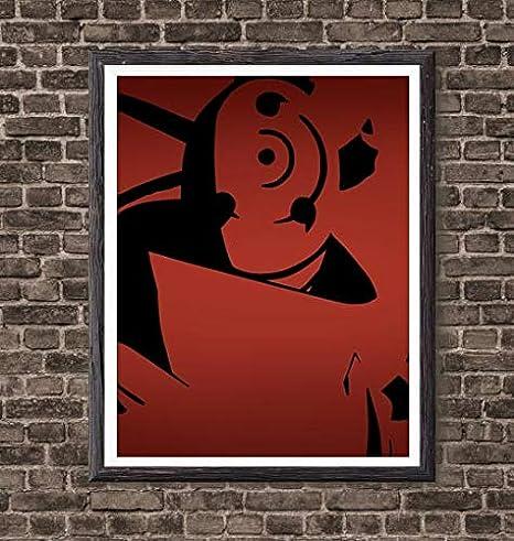 Manga Anime Naruto Ninja Akatsuki Madara Manga Anime Canvas Art Print for Wall Decor Gifts,8 x 10 Inches,No Frame