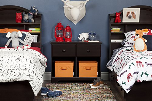 South Shore Summer Breeze 2-Drawer Double Nightstand, Chocolate