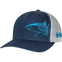 Tiger Shark Hat: Scuba Diving Trucker Cap: Born of Water Apparel - Freediving