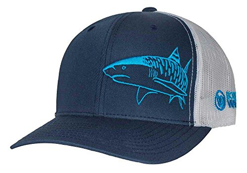 (Tiger Shark Hat: Scuba Diving Trucker Cap: Freediving | Dive | Spearfishing - Navy)