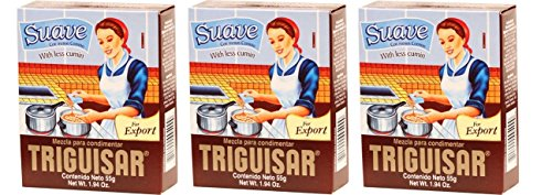 TRIGUISAR Suave 55 gr. - 3 Pack/Triguisar With less cumin 1.94 oz. - 3 Pack. by Triguisar
