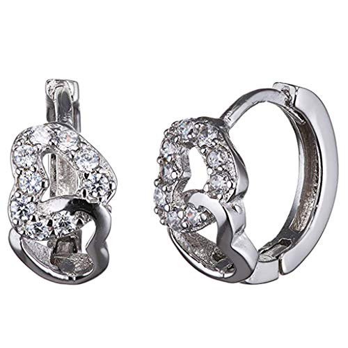 - m·kvfa Sterling Silver Earrings Gift for Women Girls Ladies Childre Earrings Jewelry with Gift Box