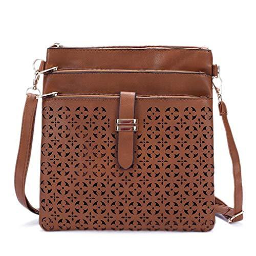 One Cruzado Brown Brown Size para Mensajero Light Mujer Light de Bolso pequeño Bolsas Bolso OCqfwZ0vO