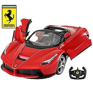 Licensed RC Car 1:14 Scale Ferrari LaFerrari Aperta with Drifting Function | Rastar Radio Remote Control 1/14 RTR Super Sports Car Model (Red)