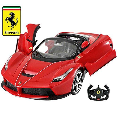 Licensed RC Car 1:14 Scale Ferrari LaFerrari Aperta with Drifting Function | Rastar Radio Remote Control 1/14 RTR Super Sports Car Model (Red) (Licensed Car)