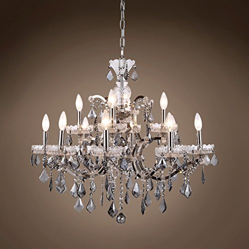 Transitional 19th c. Rococo Chandelier 12 Light 26