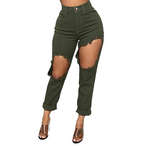 hahashop2 - Pantalones vaqueros rectos para mujer, corte ...