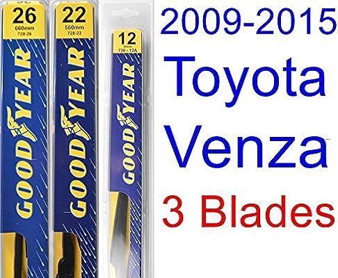 "Toyota Venza (2009-2014) Wiper Blade Kit - Set Includes 26"" (Driver Side), 22"" (Passenger Side) , 12A"" (Rear Blade) (3 Blades Total)"