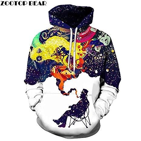 37ac091c54 3D fumo colorato stampato fumatori Hoodies uomini donne incappucciati felpe  Autunno Inverno abbigliamento esterno Csual Pullover