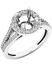 0.45 Carat (ctw) 14K Gold Round Diamond Split Shank Bridal Semi Mount Engagement Ring 1/2 CT