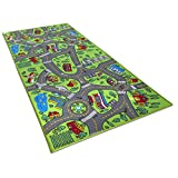 Kids Carpet Playmat City Life Extra Large - Learn & Have Fun Safe, Childrens Educational, Road Traffic System, Multi Color Activity Centerp Play Mat! Great For Playing With Cars For Bedroom Playroom