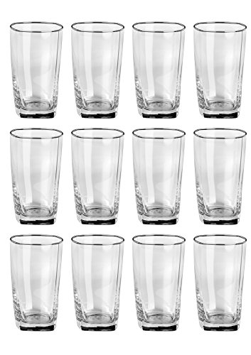 Somil Transparent Drinking Glass  Set of 12 , Clear, 300Ml