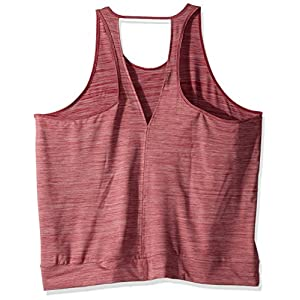 adidas Women's Performer Banded Tank Top, Mystery Ruby, Large