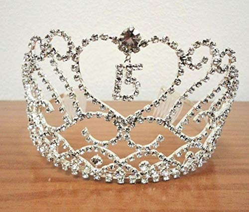 2pcs Heart and Charm Tiara Sweet 15 Quince Quinceanera Party Supplies