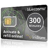 BlueCosmo Iridium 300 minute 1 year Prepaid Satellite Phone SIM Card - No Rollover