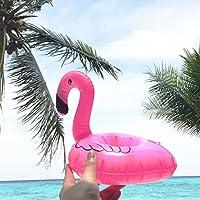 Yuccer Flamenco Posavasos Flotador, Inflable Bebidas Copa Piscina Flotadores Bar Coasters Dispositivos Juguetes de Baño para Niños y Adultos (12 Pack): Amazon.es: Juguetes y juegos